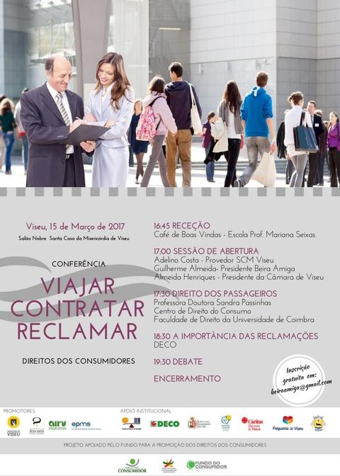 Cartaz de Divulgação - Conferência «Viajar, Contratar, Reclamar» (15.03.2017) - Cópia