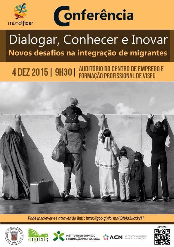 Conferência Dialogar Conhecer e Inovar Novos Desafios na Integação de Migrantes
